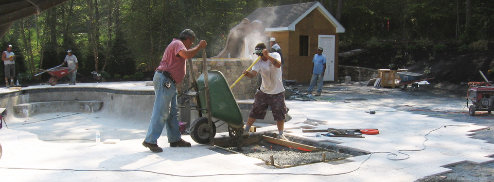 Let us help you find labor for your next pool deck concrete pour project